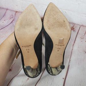 Coach Shoes - Coach Fulton t strap suede heels
